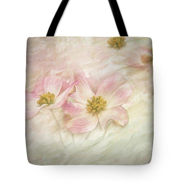 Pink Dogwood Tote Bag by Linda Blair