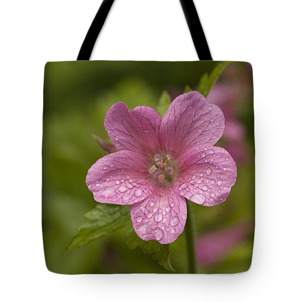Pink Droplets Tote Bag