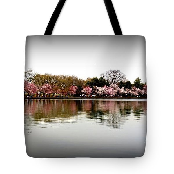 Pink Echoes Tote Bag by Patti Whitten