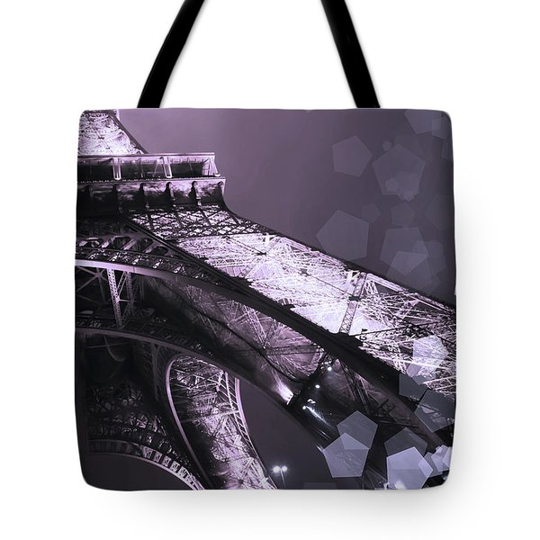 Pink Eiffel French Icon Tote Bag by Evie Carrier