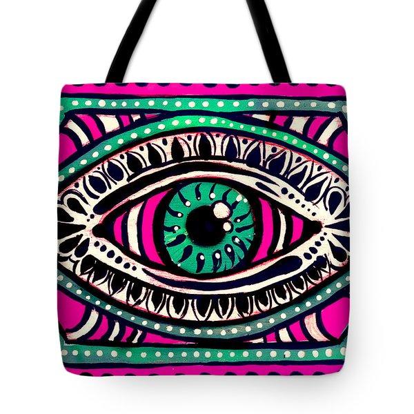 Pink Eyed Gypsi Tote Bag