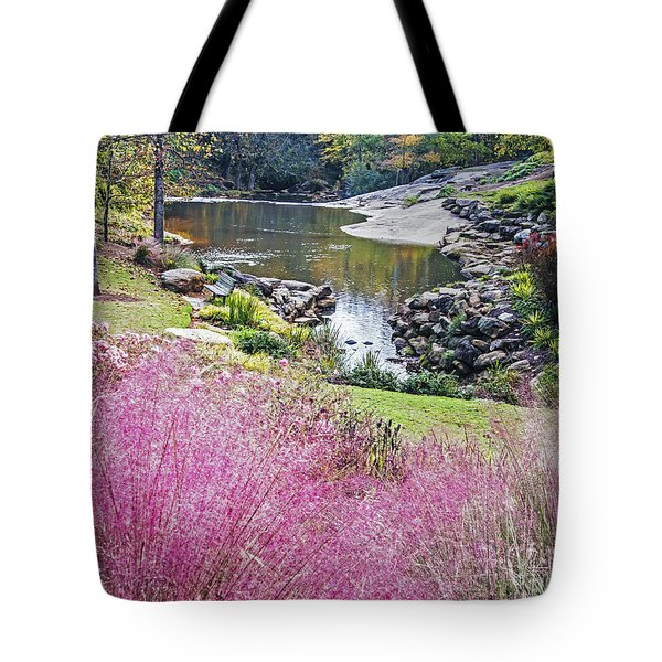 Pink Fall Tote Bag