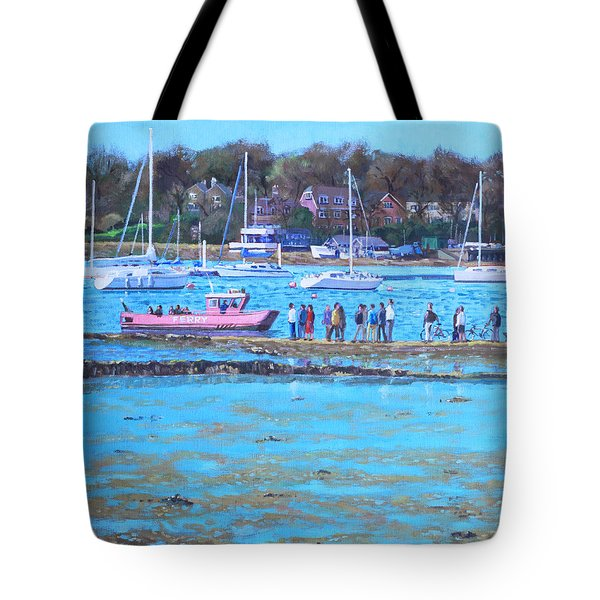 Pink Ferry On The River Hamble Tote Bag