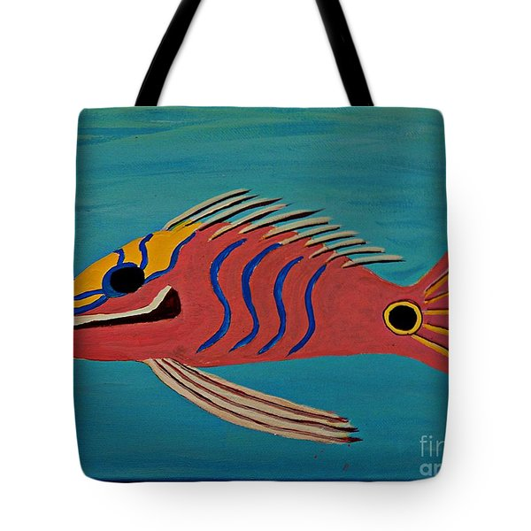 Pink Fish Tote Bag