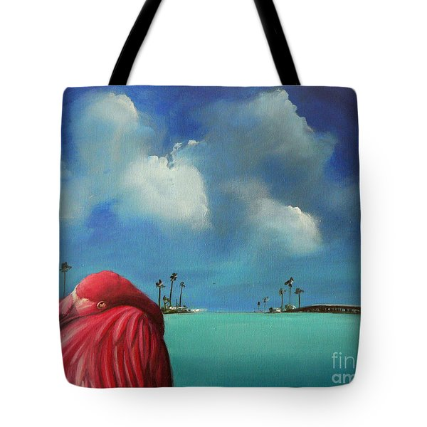 Pink Flamingo Tote Bag by S G