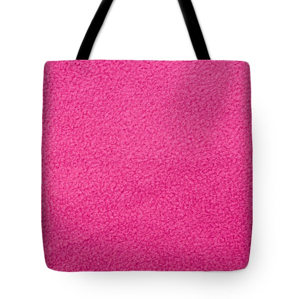 Pink Fleece Tote Bag by Tom Gowanlock