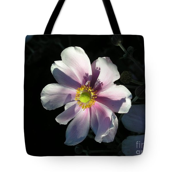 Pink Flower Tote Bag by Bev Conover