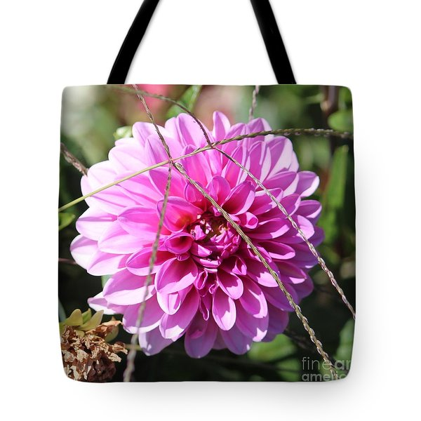 Pink Flower Tote Bag by Cynthia Snyder