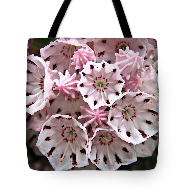 Pink Flowered Mountain Laurel Tote Bag