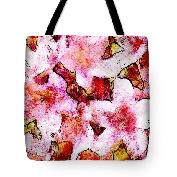 Pink Flowers 2 Tote Bag by Greg Collins