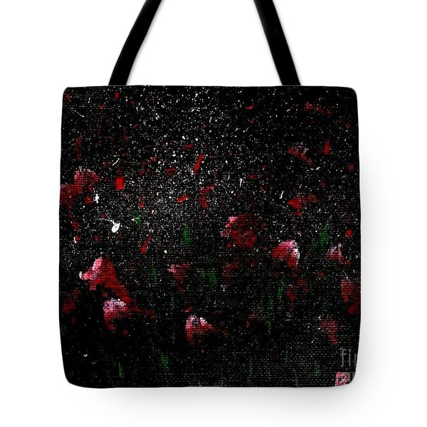 Pink Flowers In Twilight Tote Bag