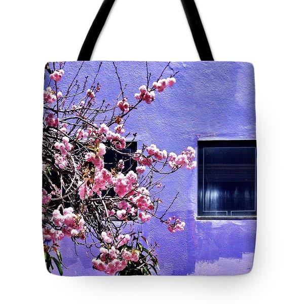 Pink Flowers Tote Bag by Julie Gebhardt