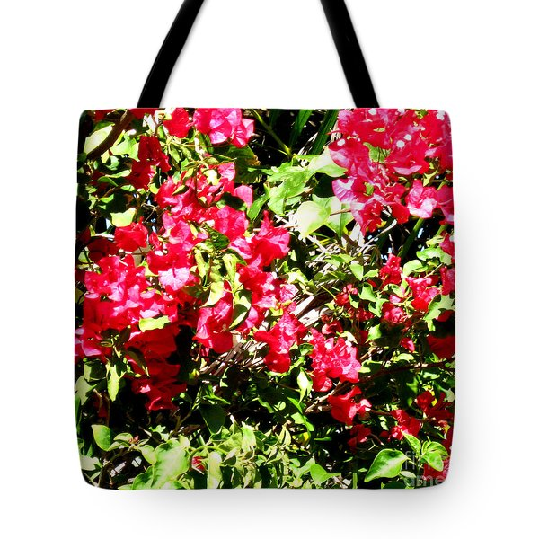 Tote Bag featuring the photograph Pink Flowers by Oksana Semenchenko