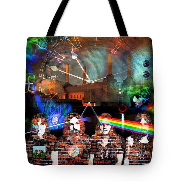 Pink Floyd Collage Tote Bag