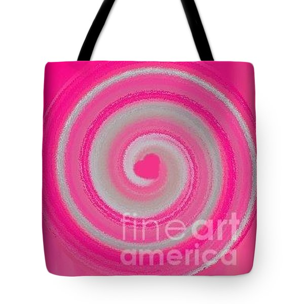 Tote Bag featuring the digital art Pink Fluff by Catherine Lott