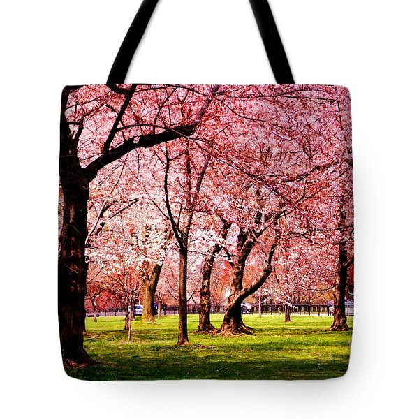 Pink Forest Tote Bag by Patti Whitten