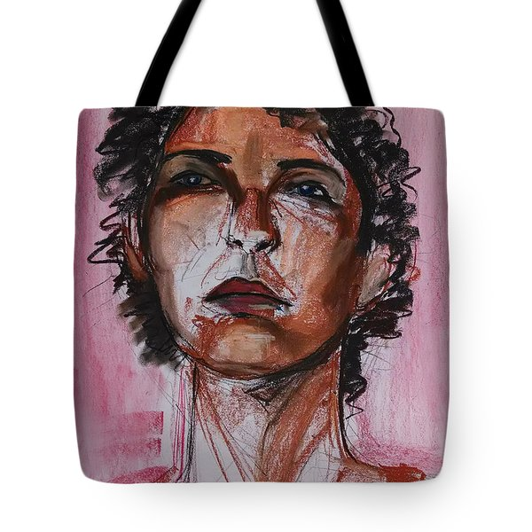 Tote Bag featuring the drawing Pink  by Gabrielle Wilson-Sealy