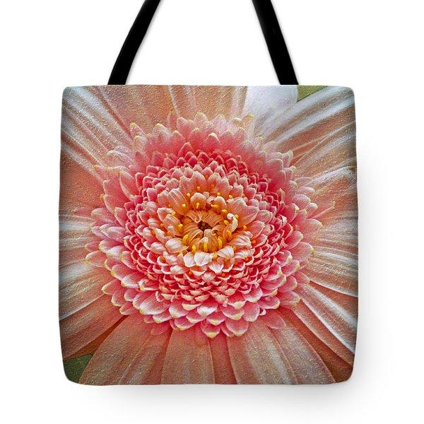 Pink Gerbera Textured Tote Bag