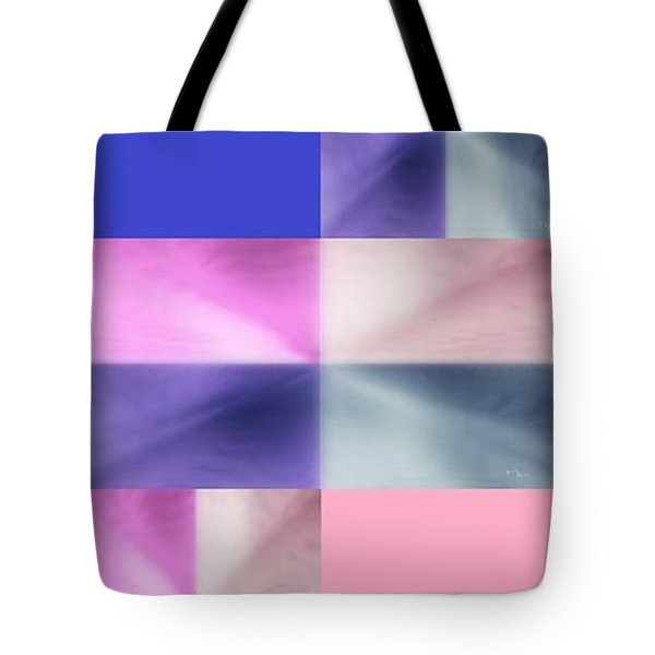 Tote Bag featuring the digital art Pink Glow 2 by Ann Calvo