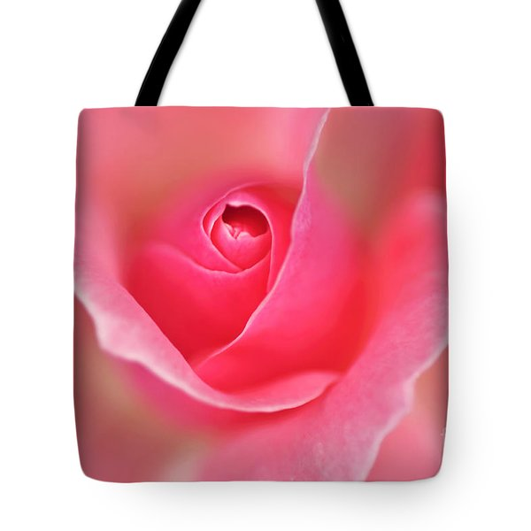 Pink Glow Tote Bag by Kaye Menner
