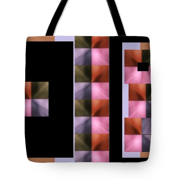 Tote Bag featuring the digital art Pink Glow by Ann Calvo