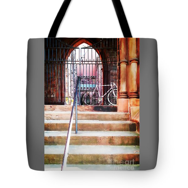 Pink Goes To Church Tote Bag by Joseph J Stevens