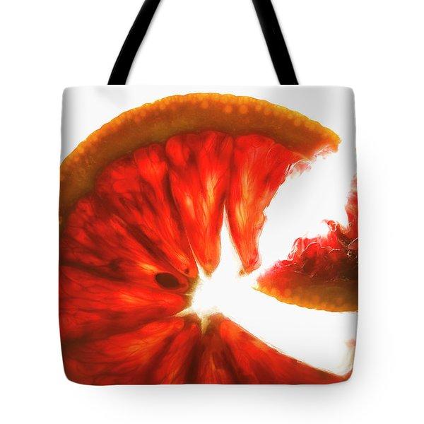 Pink Grapefruit, Backlit Tote Bag