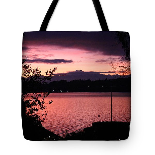 Pink Grapefruit Colored Sunset Tote Bag by Kym Backland