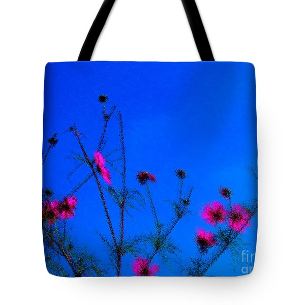 Pink Green And Blue Tote Bag by Tina M Wenger