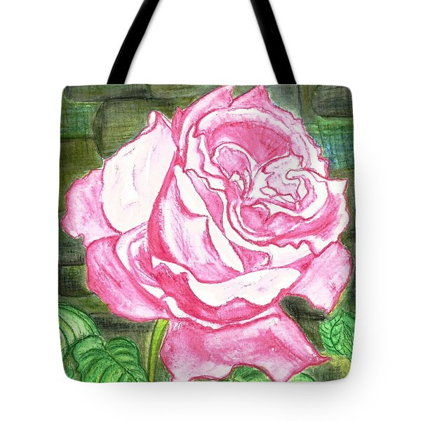 Pink Tote Bag by Heather  Hiland