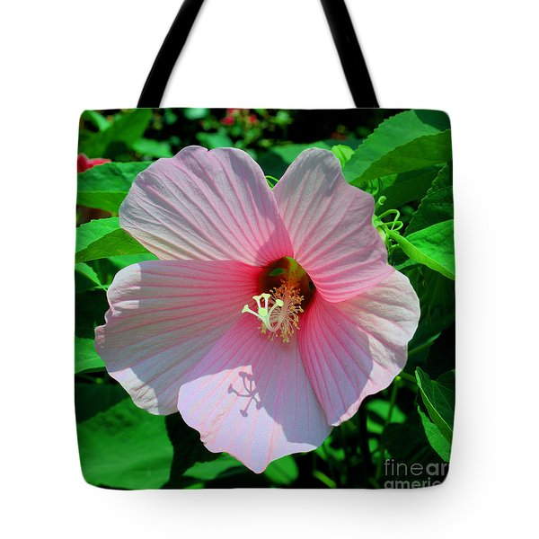 Pink Hibiscus Tote Bag by Luther Fine Art
