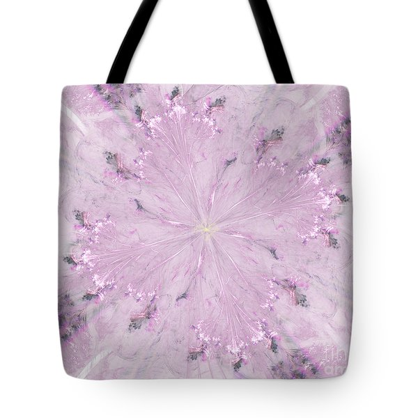 Tote Bag featuring the digital art Pink Hibiscus by Victoria Harrington