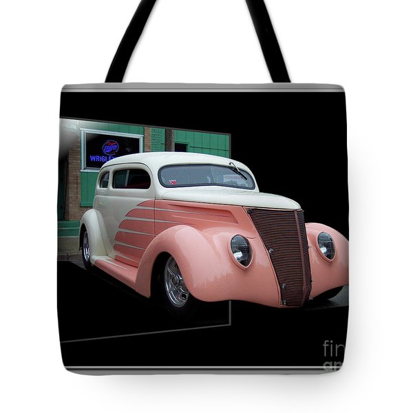 Pink Hot Rod 01 Tote Bag by Thomas Woolworth