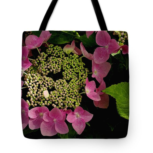 Tote Bag featuring the photograph Pink Hydrangea by James C Thomas