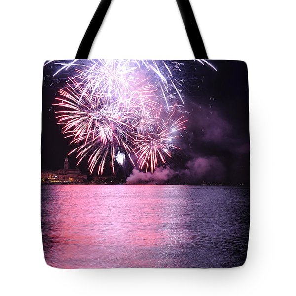 Pink Lake Tote Bag by Simona Ghidini