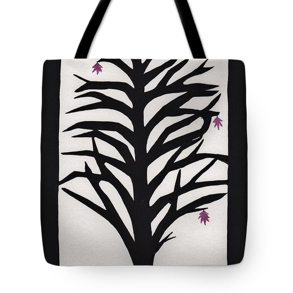 Pink Leaf Maple Tote Bag by Barbara St Jean