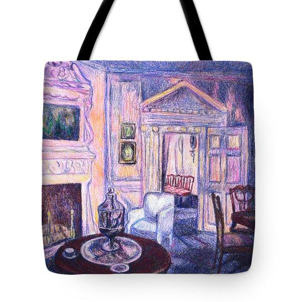 Pink Light At Mount Vernon Tote Bag by Kendall Kessler