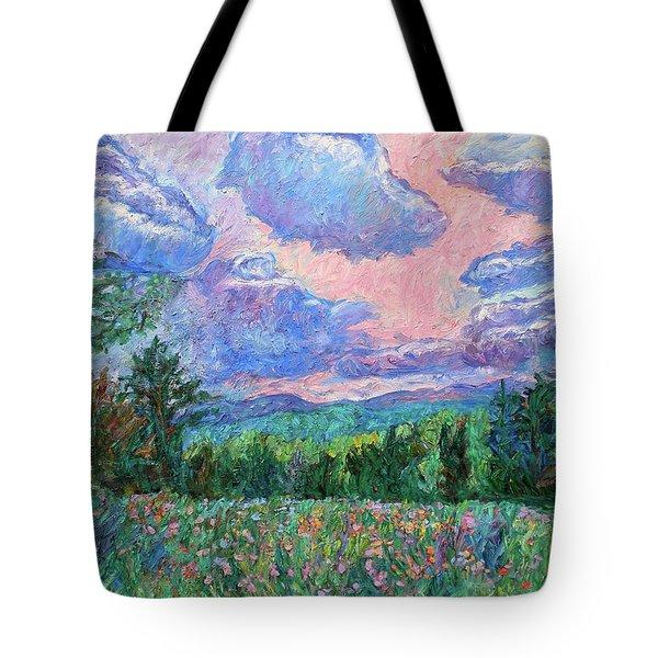 Pink Light Tote Bag by Kendall Kessler