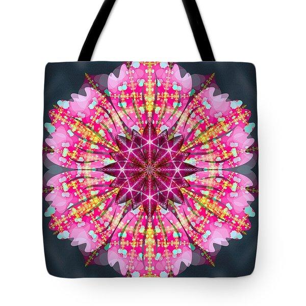 Pink Lightning Tote Bag by Derek Gedney