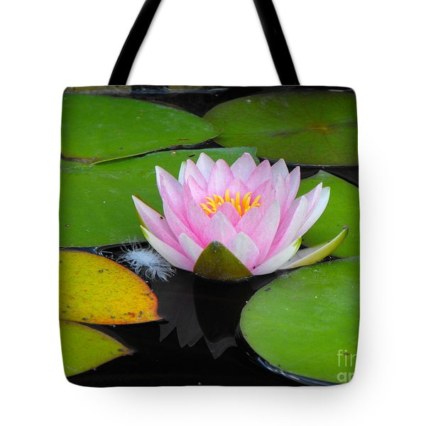 Pink Lilly Flower Tote Bag