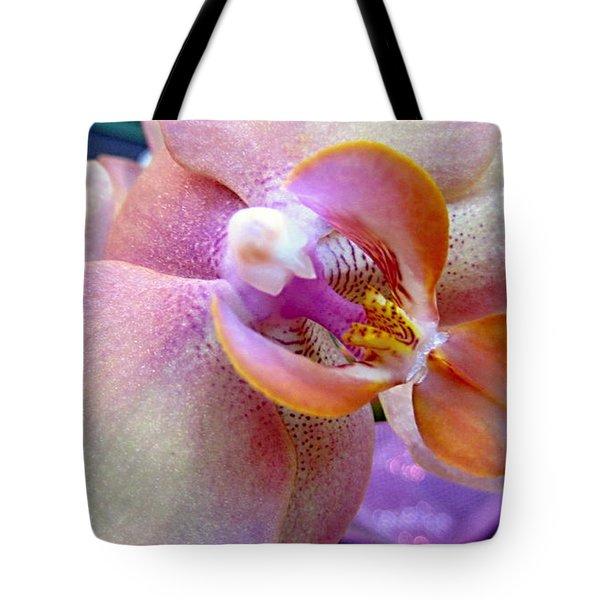 Pink Limonaid Orchids Macro Tote Bag by Danielle  Parent
