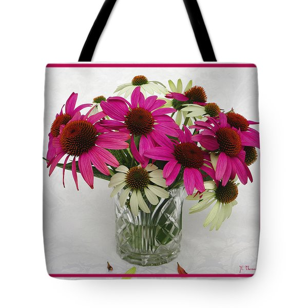 Tote Bag featuring the photograph Pink Lipstick / Flora by James C Thomas