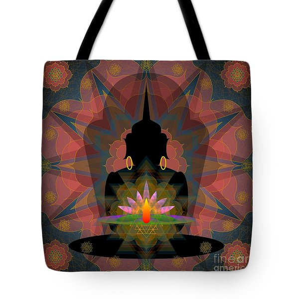 Pink Lotus Buddha Tote Bag