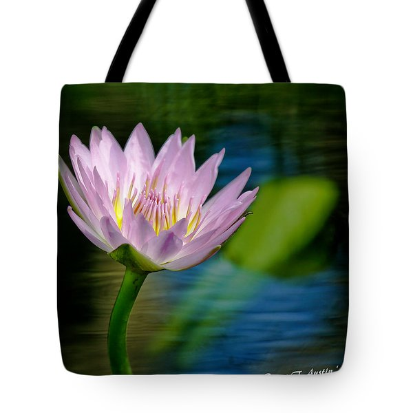 Purple Petals Lotus Flower Impressionism Tote Bag