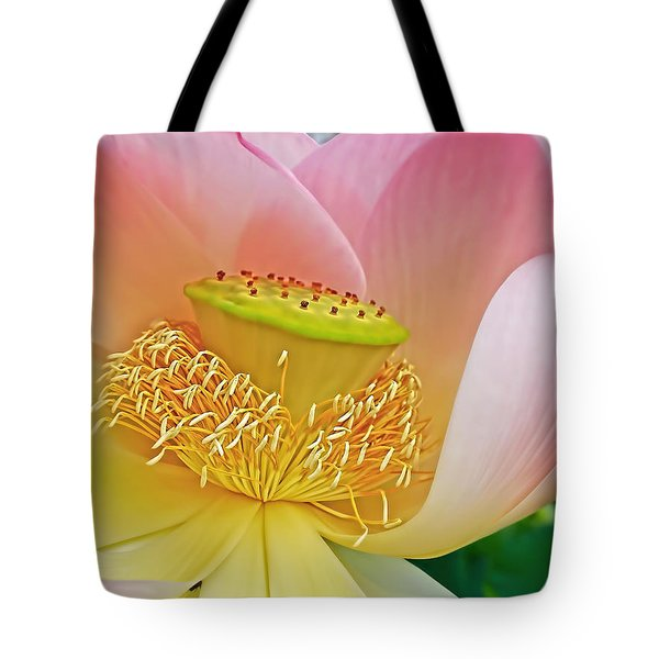 Pink Lotus Lily Tote Bag