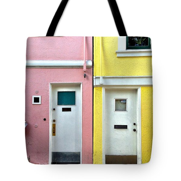 Pink Meets Yellow Tote Bag