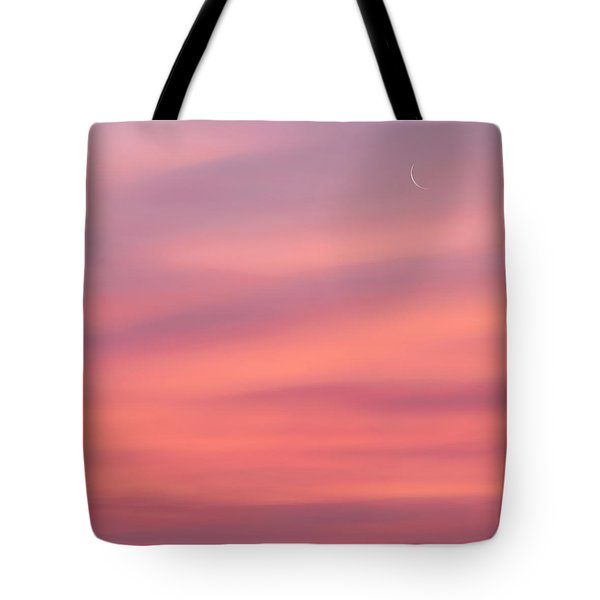 Pink Moon Square Tote Bag by Bill Wakeley
