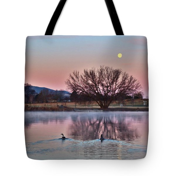 Tote Bag featuring the photograph Pink Morning by Lynn Hopwood