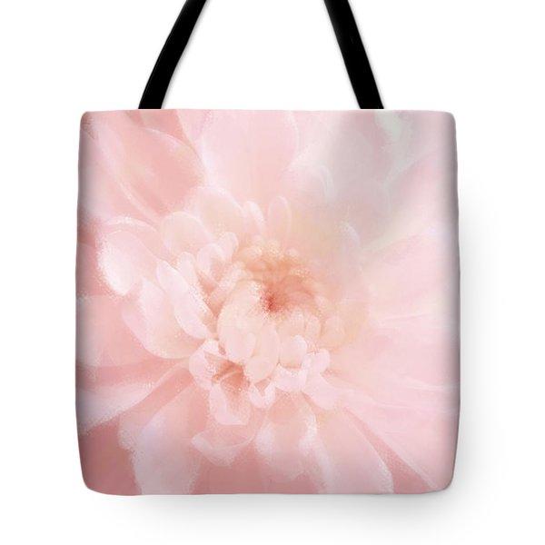 Pink Mum Luminous Painted Blossom Tote Bag