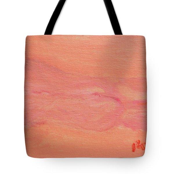 Pink Nude On Orange Tote Bag